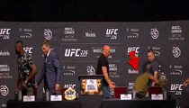 Daniel Cormier Falls Hard at UFC 226 Media Event, Claims He's 'Fine'