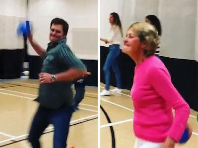 Tom Brady Lights Up Mom In Savage Dodgeball Game