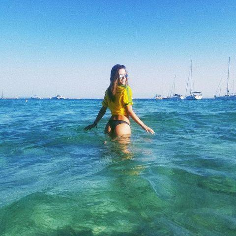 Model Alessandra Ambrosio in Ibiza.