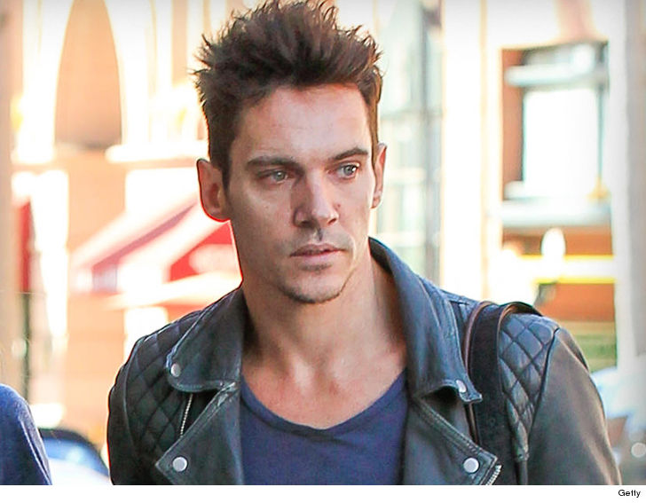 Jonathan Rhys Meyers was detained by police Sunday after allegedly getting into a verbal altercation with his wife on an American Airlines flight