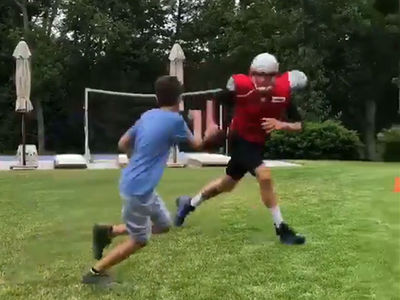 Tom Brady Jukes The Hell Out Of Son In Backyard Workout Sesh