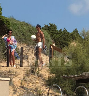 Cristiano Ronaldo -- Shirtless in Greece