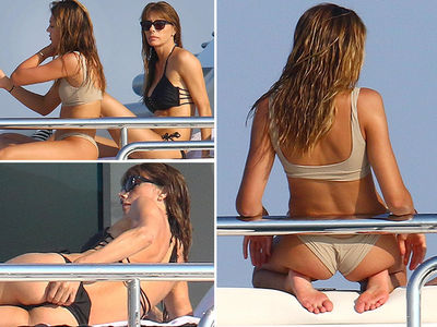 Sylvester Stallone's Wife and Daughter Have Yacht Day in Bikinis