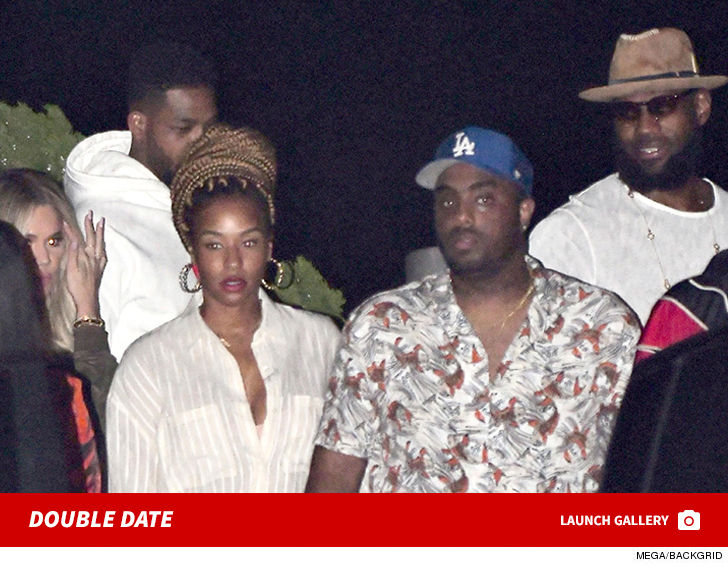 89c41f862178 LeBron James Double Date with Khloe Kardashian and Tristan Thompson ...