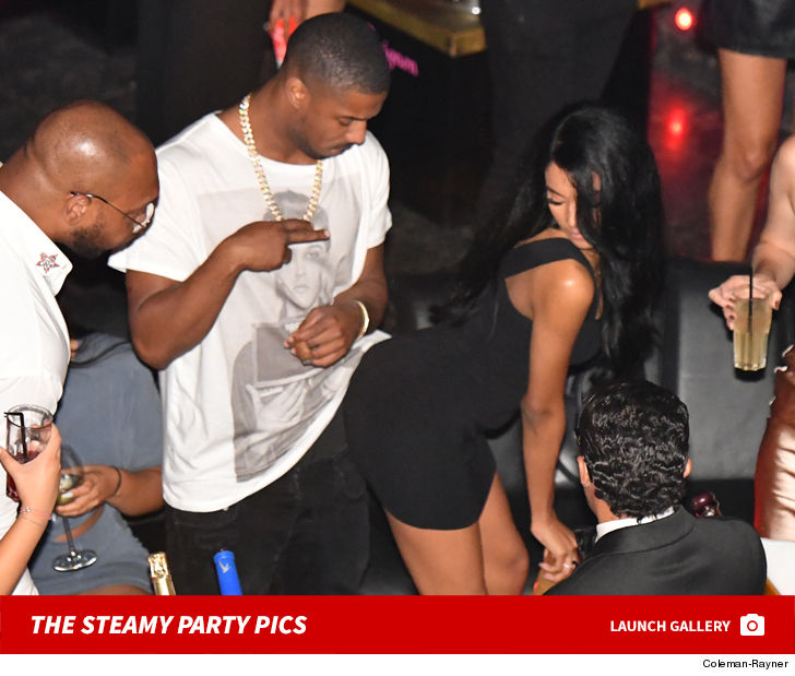ede3196968296f Michael B. Jordan Gets Handsy with Rumored Girlfriend in St. Tropez ...