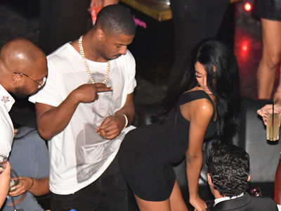 Michael B. Jordan Gets Handsy with Rumored Girlfriend in St. Tropez