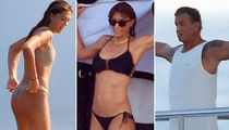 Sylvester Stallone, Wife and Daughters Enjoy Yacht Time in Saint-Tropez