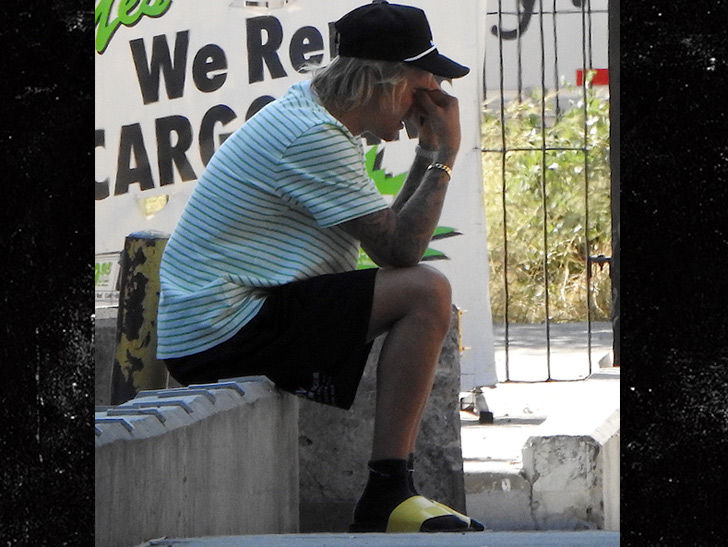 Justin Bieber Looks Emotional on Phone Days After Engagement