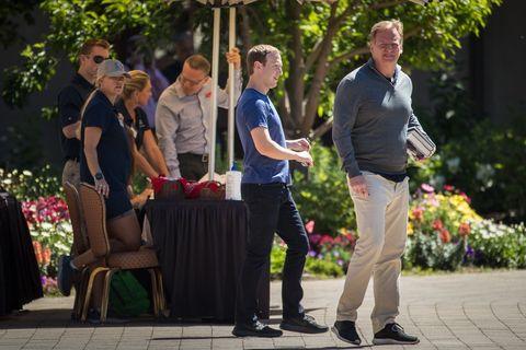 Mark Zuckerberg and Roger Goodell