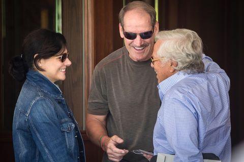 Bill Cowher and Robert Kraft