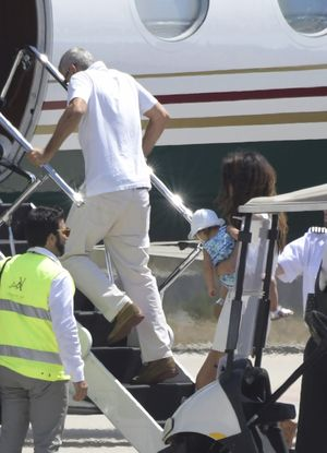 George Clooney and Amal Leave Italy After Accident