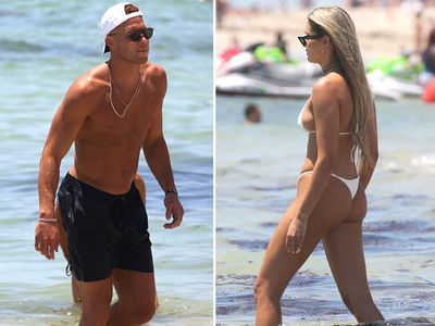 Blake Griffin's GF Francesca Aiello In Tiny White Bikini in Miami