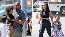 Kim Kardashian and Kanye West Attend North's Design Camp Show With Saint