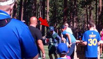 Steph Curry Gets Ankles Broken By Caddie at Golf Tournament