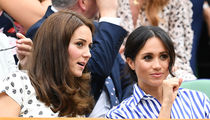 Kate Middleton and Meghan Markle Watching Serena Williams At Wimbledon