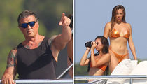 Sylvester Stallone Vacations w/ Wife & Daughters on Yacht in France