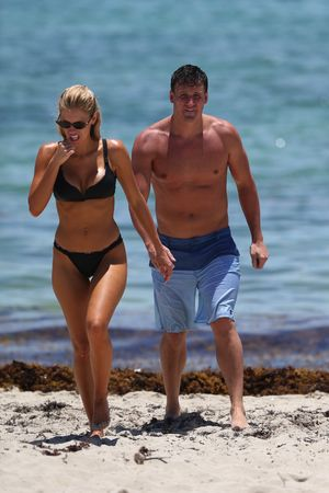Ryan Lochte and His Wife Kayla Rae Reid At Miami Beach