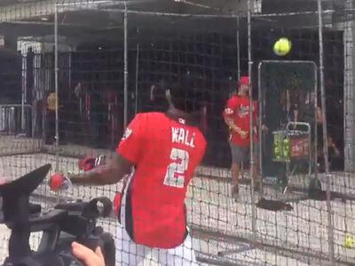 Wizards Star John Wall Still Sucks At Baseball