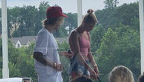 Justin Bieber Teaches Fiancee Hailey Baldwin To Golf