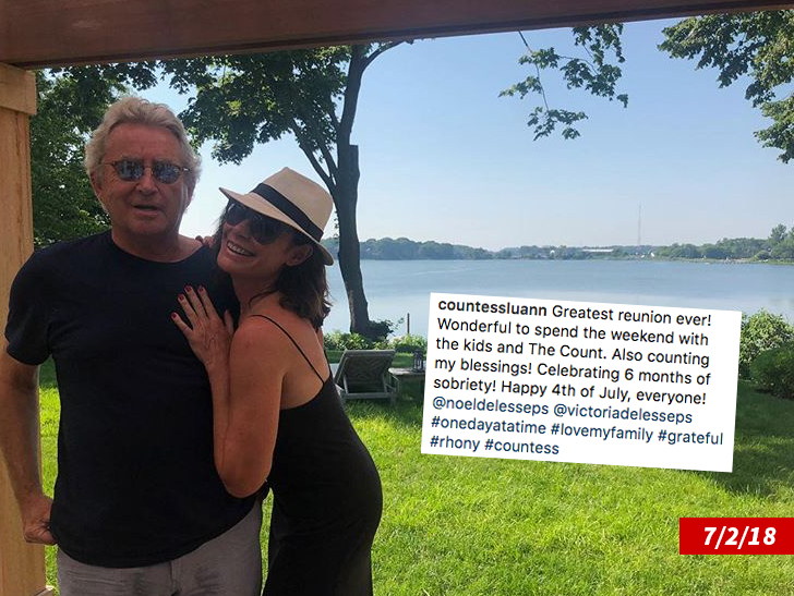 Luann de Lesseps had been struggling with sobriety for weeks before she reentered rehab.