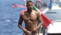 Michael B. Jordan Goes for Shirtless Boat Ride in Italy