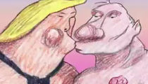 President Trump & Putin 'Love Story' Cartoon Stirs Controversy