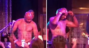 Jerry Rice Busts Out Topless Tahoe Stripper Moves…