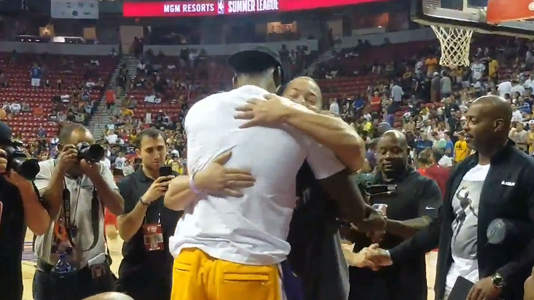lowest price ad777 53dc3 LeBron James Hugged It Out with Tyronn Lue at NBA Summer League