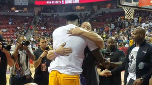 LeBron James Hugged It Out with Tyronn Lue at NBA Summer League