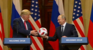 Putin Gives Trump World Cup Soccer Ball In Hacky Metaphor