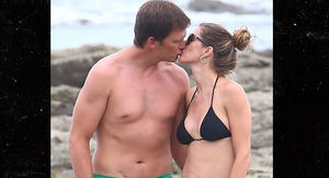 Tom Brady Flaunts G.O.A.T. Bod on Beach Vacation with Gisele