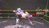 David Arquette's Secret Tijuana Wrestling Match, Crazy Flying Moves!