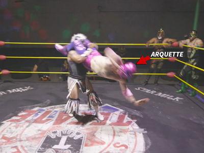 David Arquette's Secret Tijuana Wrestling Match, Crazy Flying Moves!
