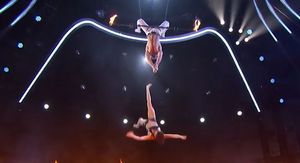 'AGT' Trapeze Artist Plummets During Blindfold Trick Over Fire