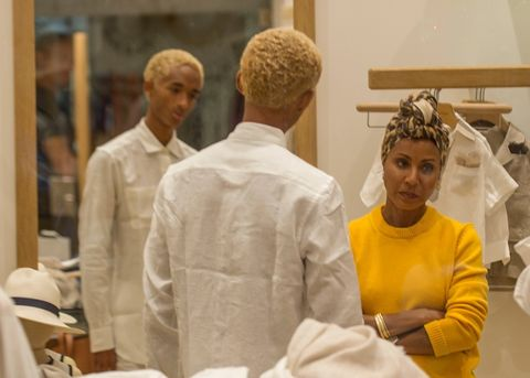 Will Smith, Jada Pinkett Smith with son Jaden and daughter Willow along with Trey spotted doing some shopping in Capri at Autori Capresi. 17 Jul 2018