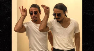 Salt Bae Unveils His Wax Sculpture at Restaurant in Istanbul