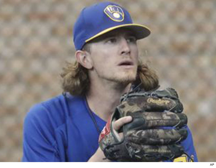 Josh Hader, Milwaukee Brewers pitcher, receives standing ovation from fans today