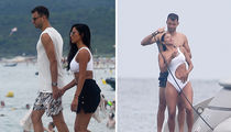 Nicole Scherzinger's BF Rinses Her Off After Saint-Tropez Swim