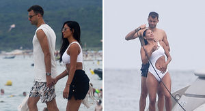 Nicole Scherzinger's Boyfriend Rinses Her Off After Saint-Tropez Swim