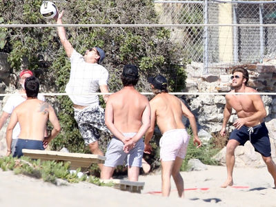 Leonardo DiCaprio Adds Scott Eastwood to His Beach Volleyball Team