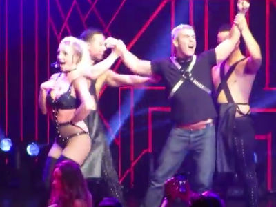 Britney Spears Whips Andy Cohen Onstage At Concert