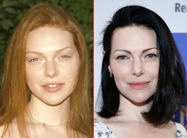 """Laura Prepon's good looks deserve a show of their own! Here's a 19-year-old version of the """"That 70's Show"""" star showing off her bright hair at an…"""