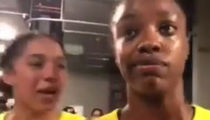 WNBA's Diamond DeShields Trolled By Teammate During Interview, 'Is Your Rash Okay?'