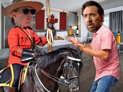 Nicolas Cage and GF Get Loud in Rockies, Canadian Mounties Called