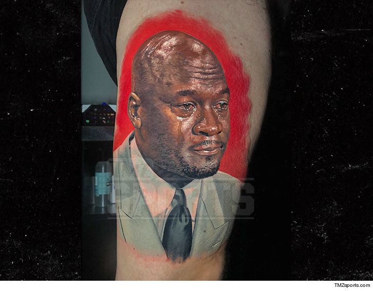 Chicago Bulls Fan Gets Epic \'Crying Jordan\' Tattoo   TMZ.com
