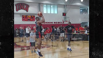 Russell Westbrook Shows Off His Thighs At Team USA Practice