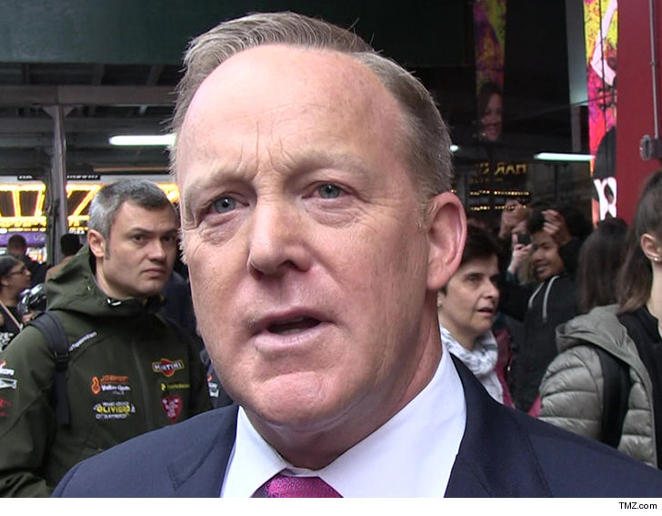 Sean Spicer 'taken aback' by man's claim he used racial slur