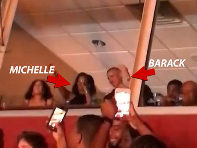 Barack and Michelle Obama Dance at Beyonce, Jay-Z Concert