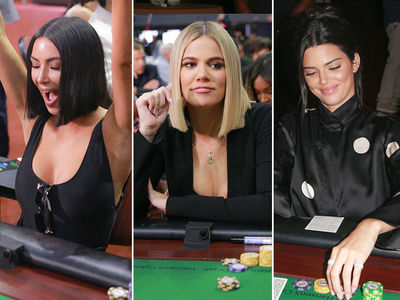 Kim, Khloe and Kendall Played Poker at a Charity Event