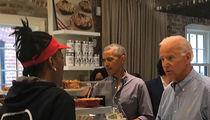 Barack Obama and Joe Biden Break Bread in Washington